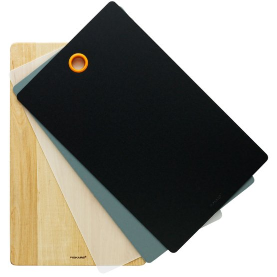 Snijplank hout + 4st.plastic FF