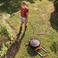 Automatische slanghaspel XL met wielen incl. 20 m tuinslang